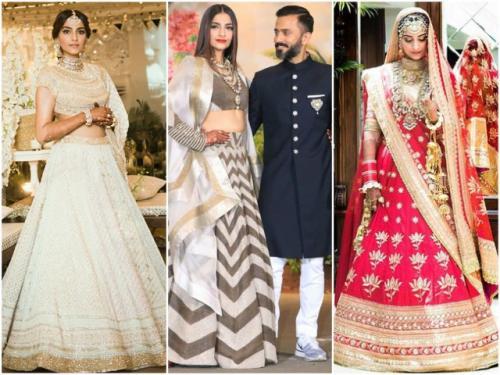 Sonam's wedding wardrobe