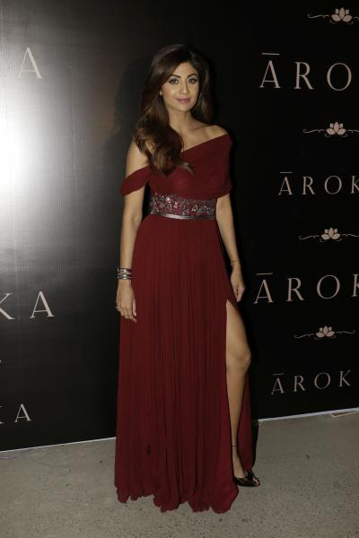 Gorgeous Shilpa Shetty graces her presence at the launch of Luxury Bespoke couture label Āroka by Shweta and Karan.