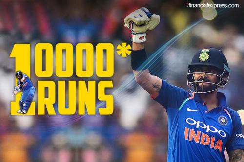 Virat Kohli becomes the fastest cricketer in the world to Score 10,000 ODI runs