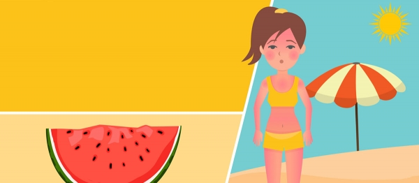 Foods to relieve sunburn