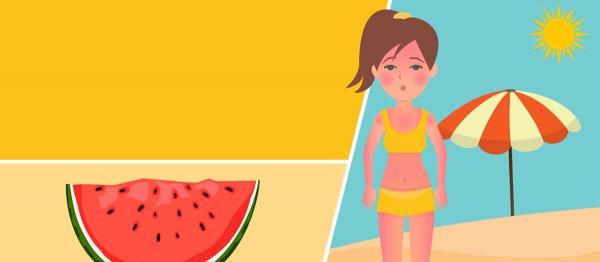 Foods to relieve sunburn