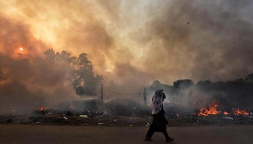 क्लाइमेट चेंज है बाढ़ आग और प्लेग जैसी आपदाओं का कारण