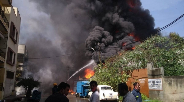 fire broke out in the sanitizer-producing unit at pune